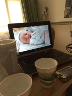 Laptop with Zephyr in the NICU